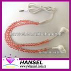 Hot sale pink pearl earphone ear buds