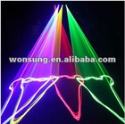 4 Lens RGB 450nm blue laser light DMX dance party light much better effects than RGYP laser