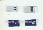 woven size label