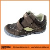 brown color PU+ leather children shoes in european style