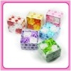 flower soap in dot box