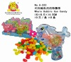 Flashing Whale Bubble Gun Plastic Candy Toy