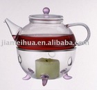 Heat Resistant Glass Teapot Tea Warmer