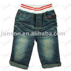 Children's denim jeans with elastic waistband