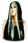 Sorceress Witch Wig With White Streaks