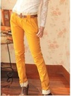 Charming Lace Flower Embellished Harem Long Pants Ginger QM12092614-2