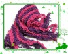 promotional 100% acrylic fashion winter striped knitted scarf factory