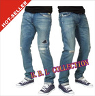 2012-2013 Fashion Wholesale Cheap Destroyed Skinny Mens Ripped Jeans(JFK148)