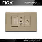 MGA modular Italy socket + RJ11 + Switch