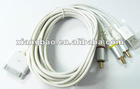 free shipping lot/5 piece AV cable for ip phone 3G,3GS,4G ,5G with highest price