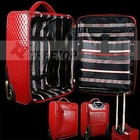 PU leather trolley bag for all 12'' laptop with carry handles, travel trolley bag, luggage bag