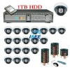 NEW !20CH DVR with HDMI with CCTV Dome camera security surveillance DVR camera system 1TB HDD
