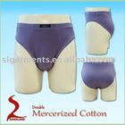 Double mercerized cotton underwear briefs men underwear