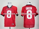 Georgia Bulldogs #8 AJ Green red ncaa football jerseys size 48-56 mix order free shipping