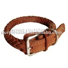 "15""-20"" Fit All Adjustable Buckle Leather Dog Collar"