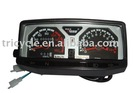 Three wheel motorcycle meter