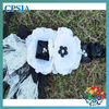 hot sale cute white with black vintage flower girl lace headband