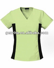 Ladies Flexi Medical Scrub Top With Black Strecth Side Panels