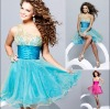 2010 newest style X-2027 zhenzhen organza party dress