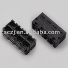 Double Row RJ45 Network PCB Jack without shield