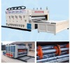 semi automatic multi color flexo printing and slotting machine.
