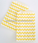 Yellow and white Chevron Wedding Favor Kraft Bags for Bridal Shower Baby Shower Birthday