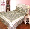 100% cotton fabric embroidery quilted bedspreads/patchwork