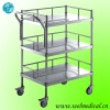 WM624 hospital stainless steel trolley