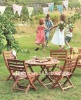 wood children patio set ( WA-5S-C105 )