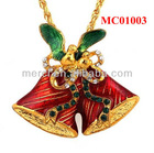 50% Discount Pendants for Christmas Jingle Bell with Gold Chain