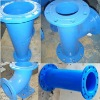 ISO9001 Epoxy cast iron pipe with Flange
