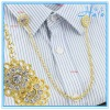 Decorative Cloth Shirt Accessories Jewelry Rhinestone and Metal Collar Chain