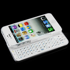 Ultra-thin 2.4GHz Bluetooth 3.0 Slide-out Wireless Keyboard for iPhone 5 ( White)
