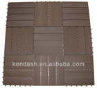 WPC Interlocking DIY Tiles 40x40cm Chocolate
