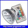 12x1W color changing spot led lamp with IR remote panel