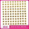 Colorful star rhinestone sticker