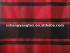latest 100% tr yarn dyed checks fabric for coat