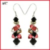 Free shipping 100% new design with crystal MT12072075 big earrings