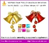 "2012 Update ABS Plastic Vacuum Plating 4.5"" Double Christmas Bell / 3 Balls"
