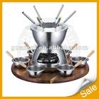 23 pcs stainless steel fondue set with fork