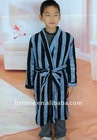 Boys soft polyester coral fleece bathrobe
