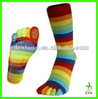 5 Toe Yoga Socks With Non-slip Dot