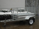 single axle hot dipped galvanized tipping cage trailer