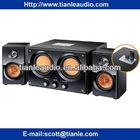 Wooden 2.2 Channel Double Subwoofer System Multimedia speaker