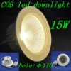 Warm White&White,15W,AC180-260V recessed led ceiling light,high quality painting led COB downlight for Christmas&New Year,Retail