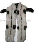 ladies high-quality rabbit fur scarves for winter