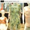 Printed flowers fashion ladies braces skirts