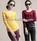 ej1013 Latest Fall Warm Design Long Sleeve Cheap Plain Tight Cotton Primer Shirt