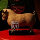Q429-82Stone Made Luck Bull Handmade Craft