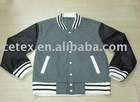Mens woolen jacket with Pu leather sleeves,style no. DS-C-3602